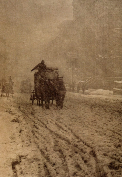 Alfred Stieglitz Winter, Fifth Avenue, 1893