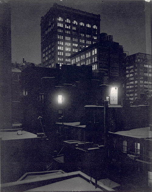 Alfred Stieglitz, From the Back Window – 291, North, 1915