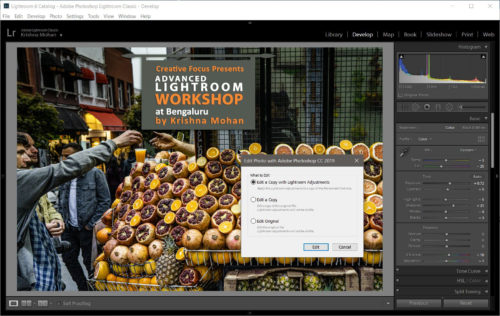 Edit A Copy with Lightroom Classic Adjustments