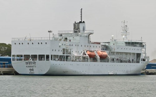 MV Kavaratti in parking bay
